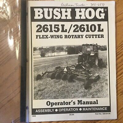 Bush Hog Flex-wing Rotary Cutters Mower Operation Maintenance Manual Guide Book