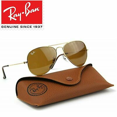 Ray-Ban Aviator Classic Sunglasses RB 3025 001/33 62mm Brown / Gold frame