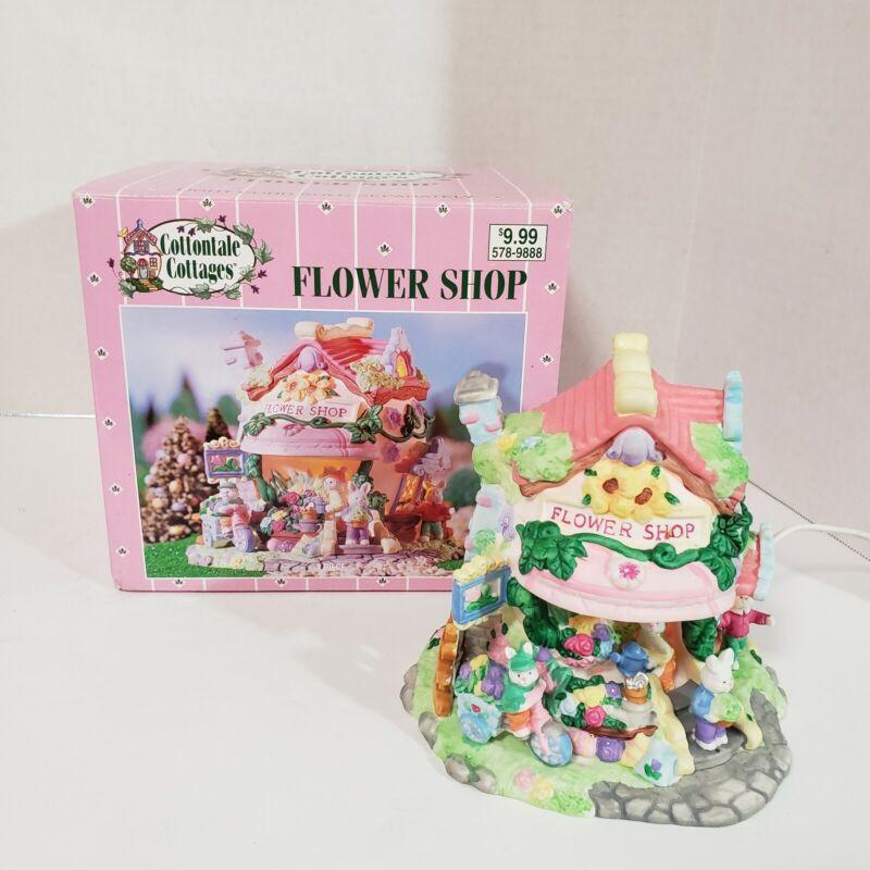 2002 Cottontale Cottages Flower Shop Porcelain House Easter Bunny By Jo-Ann