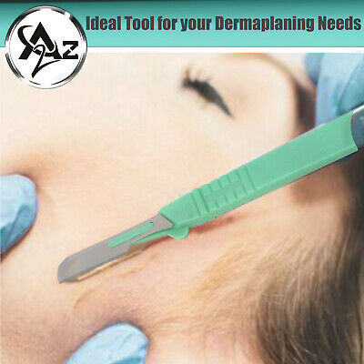 10 Pcs Dermaplaning Callus Remover Scalpel Blade 16 Disposable Plastic Handle