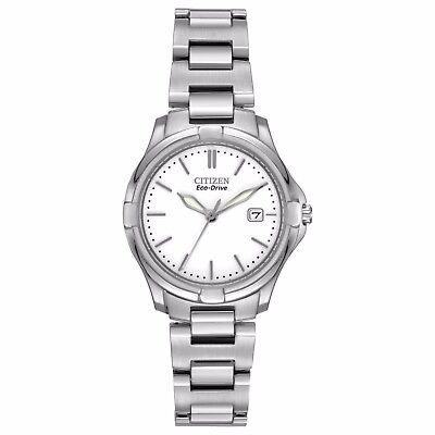 - Citizen Eco-Drive Silhouette Women's EW1960-59A Silver-Tone Sport 28mm Watch