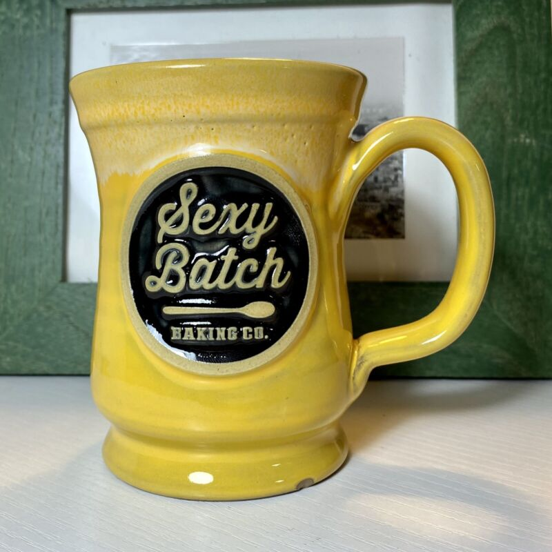 DENEEN Pottery Sexy Batch Baking Co. NYC Footed Mug 34/200 Limited Ed. 12 oz GUC