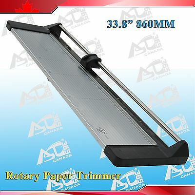 Brand New 33.8in 860mm Rotary Photo Vinyl Paper Cutter Portable Trimmer 1 Blade