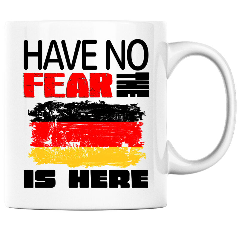 Have No Fear the German is Here Funny Coffee Mug Germany Heritage Pride