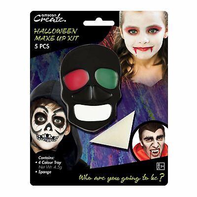 Halloween Make up Kit Skeleton Devil Vampire Zombie Frankenstein Face paint Kids](Kids Zombie Makeup)