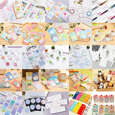 Color Random Cartoon Sticker Post Bookmark Memo Pads Index Flag Sticky Note