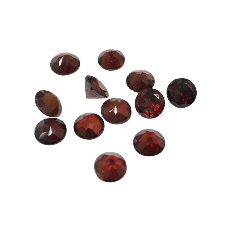 5mm Round Natural Garnet 0.5 CTW Gemstone