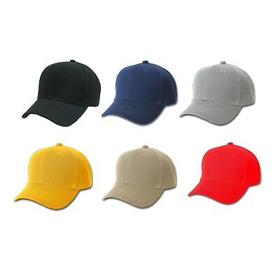 5 Pack of Plain Polyester Unisex Baseball Caps - Adjustable Blank Hat with](Pack Hat)