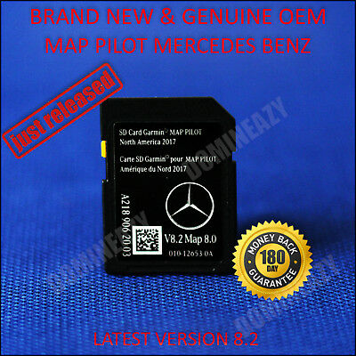 2018 Mercedes-Benz SD Card GPS Navigation GLC C-Class Garmin Map Pilot v8.2