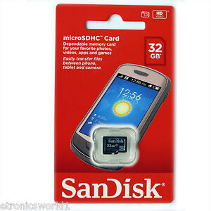 Sandisk 32GB 32G MicroSD card MicroSDHC New Memory Micro SDHC TF BRISBANE