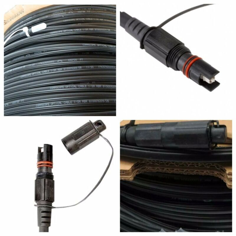 2000' COMMSCOPE FIBER OPTIC FLAT DROP CABLE HARDENED FULL SIZE + TRACER G.657.A2