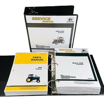 Service Manual Parts Catalog Set For John Deere 4040 Tractor Shop Book Overhaul