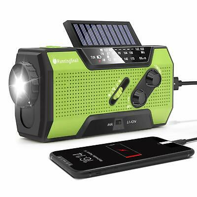RunningSnail Solar Crank NOAA Weather Radio For Emergency, w