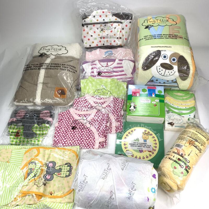 Lot Of Avon Tiny Tillia Newborn Baby Kit Blankets Bedding Diaper Bag Clothes Etc