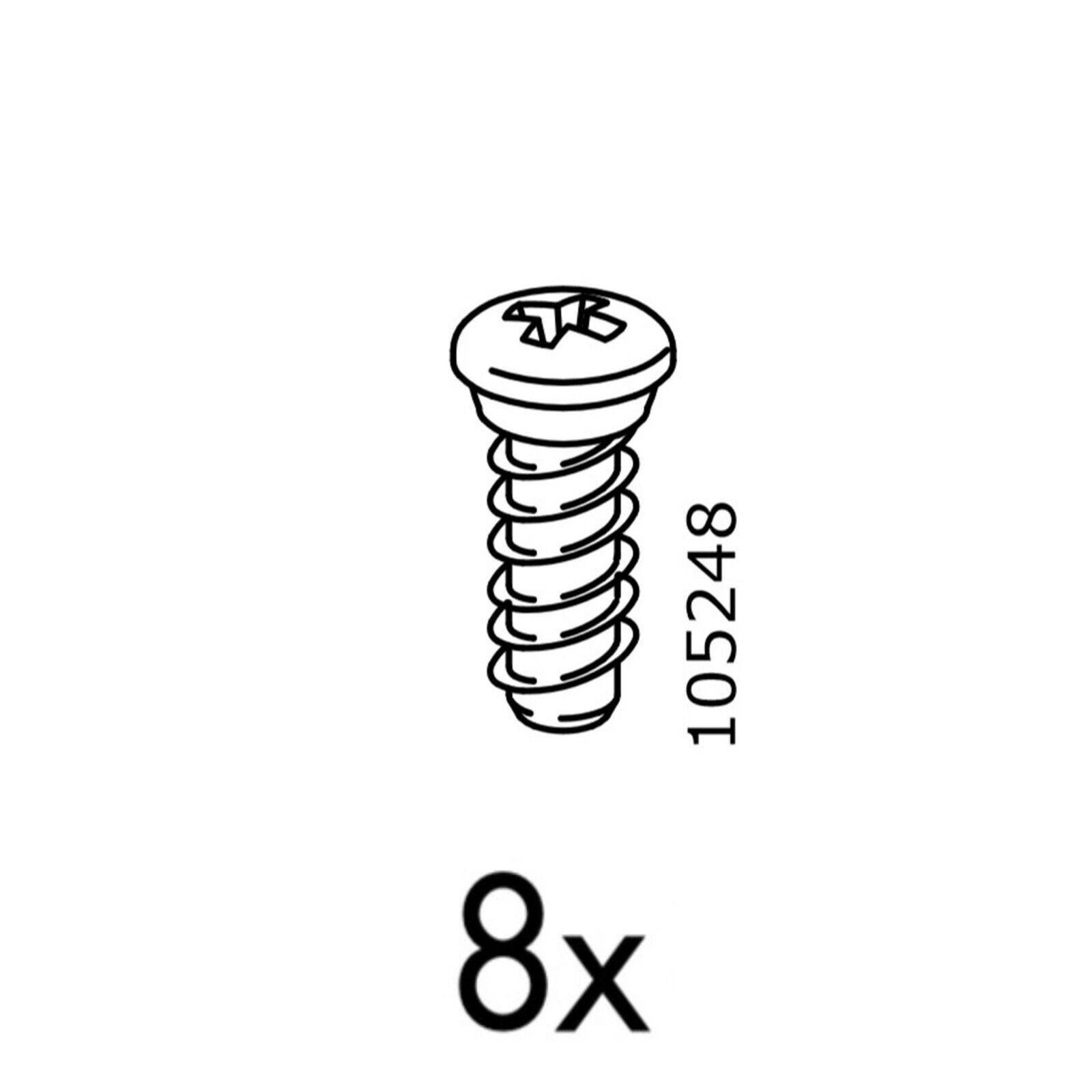 and other Ikea furniture Kallax 10x IKEA Screws Part # 105248 For Brusali