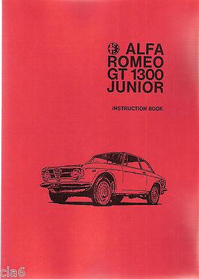 Alfa Romeo GT1300 Junior Instruction Book - owners handbook *NEW