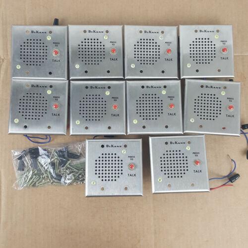 Lot of 11 Dukane Intercom Stations Call-In Switch Plate Press to Talk Speaker