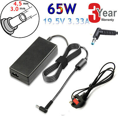 For Hp Pavilion 15-ac107na Laptop Blue Tip Charger AC Adapter Power Supply 65W G