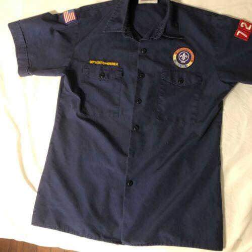 Official BSA Boy Scout Cub sht slv uniform shirt patches Y X Lrg Pack 728