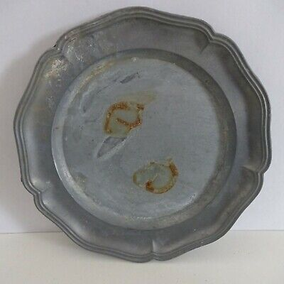 Old Tin Plate Neutral Approx. 16 CM