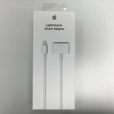 Genuine Apple Lightning to 30-pin Adapter Cable MD824 - New in Box Sealed