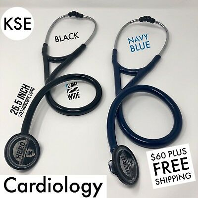 Kse Master Cardiology Stethoscope Blacknavy Blue By Kongs Enterprise