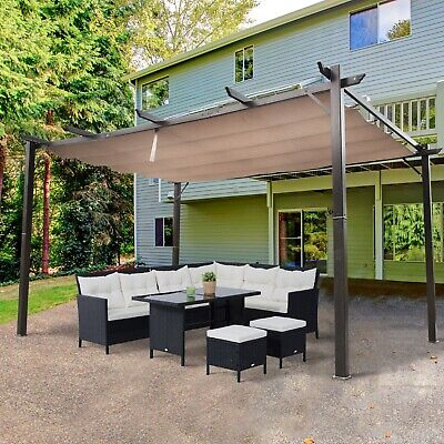 Outsunny 10' x 13' Outdoor Pergola Gazebo Canopy Cover Backyard Sunshade