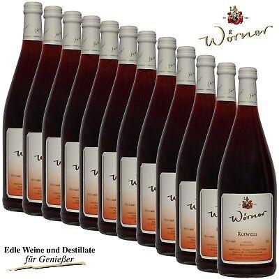 (3,96€/l) Rotwein 12 x 1l Wein aus der Pfalz - WEINGUT WÖRNER roter Hausschoppen