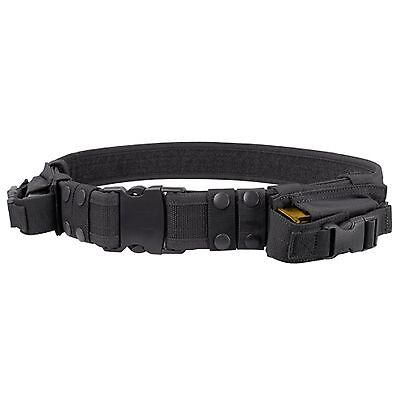 Condor Black TB Military Combat Pouch Duty Tactical Belt 2 Pistol Magazine Pouch