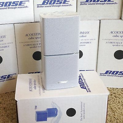 Bose Double Cube DoubleShot Speaker Lifestyle Acoustimass Mint Perfect White