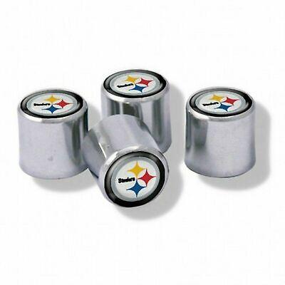 NEW Pittsburgh Steelers Football Chrome Tire Valve Stem Caps w/ Team - Football Team Colors