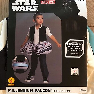 NEW Star Wars Millennium Falcon Halloween Costume Child/Toddler One Size 3 &up - Falcon Halloween Costume