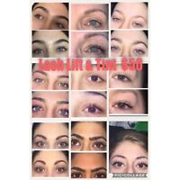 Lash lift and tint special $50