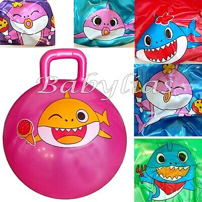 Ride On Bouncy Ball (Baby Shark Hopper Ball Bouncy Toy Hippity Hop Jump Ride Bouncing With)