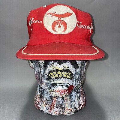 1950s Mens Hats | 50s Vintage Men's Hats Aladdin Temple Masonic Shriner Hat Ball Cap Red White Pre Owned Vintage 1950s $200.00 AT vintagedancer.com