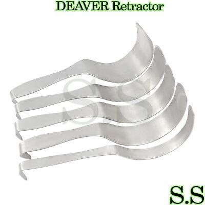 Set Of 5 Deaver Retractor Surgical Medical Instruments