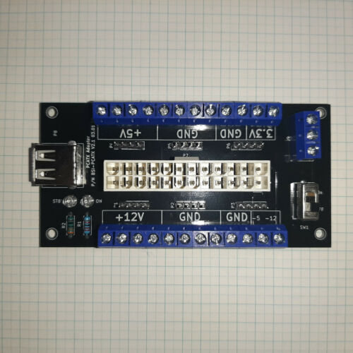 ATX 20/24Pin Benchtop Board PC Power Supply Breakout Module Adapter+USB 5V Port
