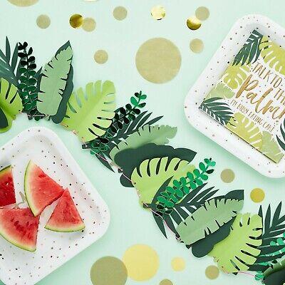 Tropical Leaf Garland, Hawaiian, Summer Time Party, Backdrop, Aloha, Venue Deco