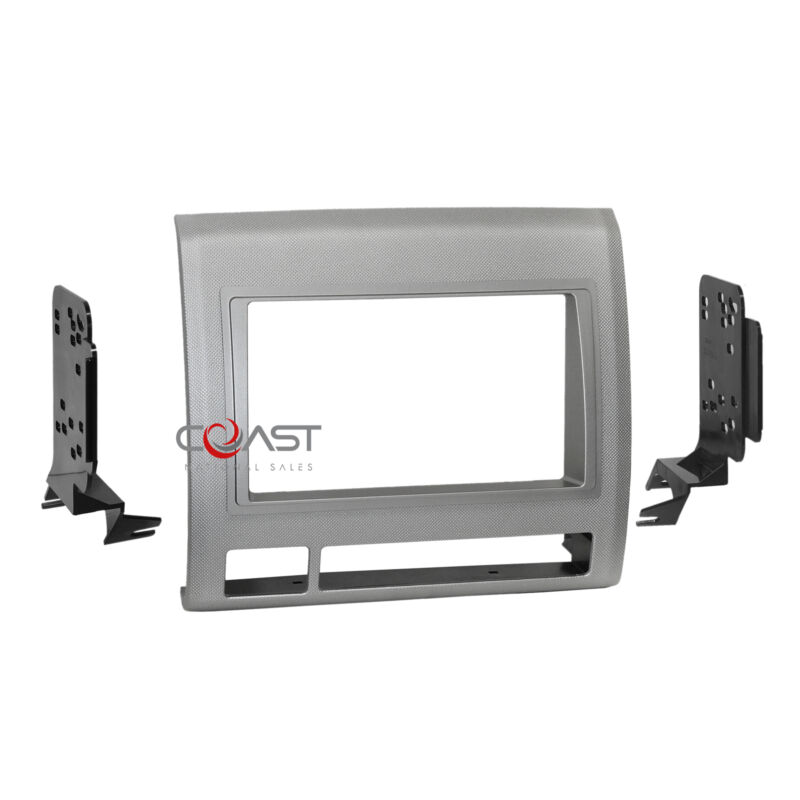 Metra Car Radio Stereo 2 Din Texture Gray Dash Kit for 2005-2011 Toyota Tacoma