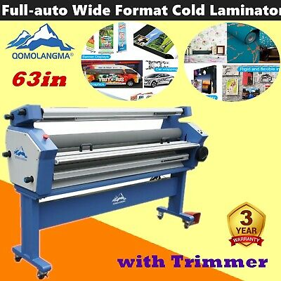 63 Full-auto Wide Format Cold Laminator Machine Laminating With Heat Assisted
