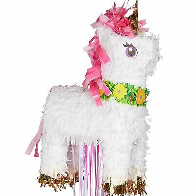 Sparking Unicorn Birthday Pinata Pull String Holds up to 2 Pounds of Candy](String Pinata)