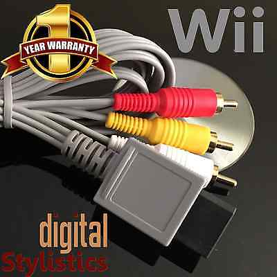 A/V Cable Cord (NEW) Nintendo Wii (AV Audio Video, 6 ft.)