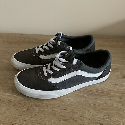 Vans Old Skool Men's Trainers Grey Suede Skate Shoes