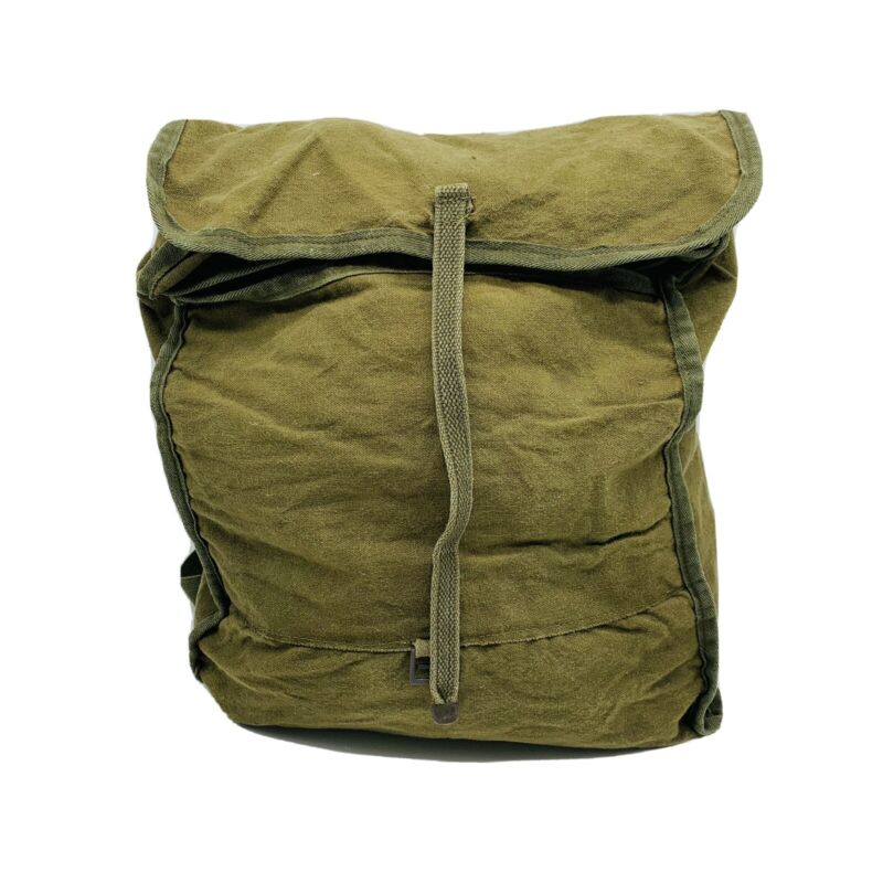 Vintage Boy Scouts Style Canvas Backpack Day Hiking Bag