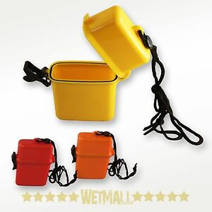 Waterproof Container Airtight Case Small Key Money Beach Box Yellow