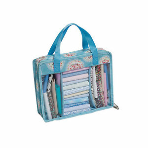 Hobbygift Vintage Style Blue Floral Pattern Quilting Fat Quarter Quarters Bag