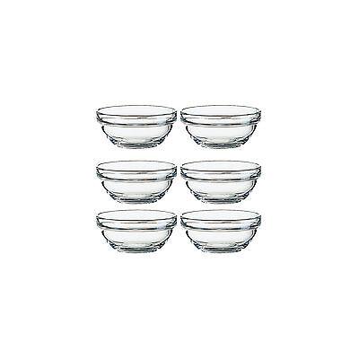 Arcoroc Stapelschale, transparent, H 4,8 cm, Ø 10,5 cm, 6 Stk. - Glasschale