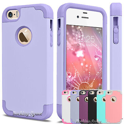 Hybrid Rubber Ultra-thin Slim Shockproof Hard Case Cover Skin for iPhone SE 5 (Best Protective Cover For Iphone 5s)