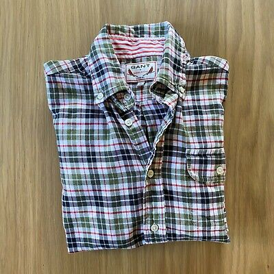 Mens GANT by Michael Bastian Button Down Brushed Flannel Cotton Shirt S Small