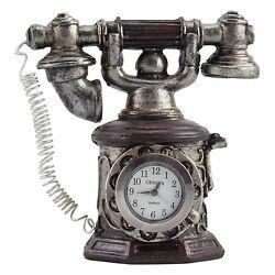 10022052 Geneva Clock Company Mini Table Top Analog Quartz Clock - Telephone